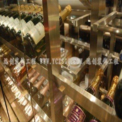 玫瑰金酒架,玫瑰金酒柜,电镀不锈钢酒架