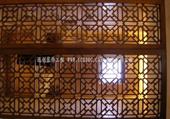 玫瑰金镂空隔断,彩色镂空屏风,酒店高档不锈钢花格