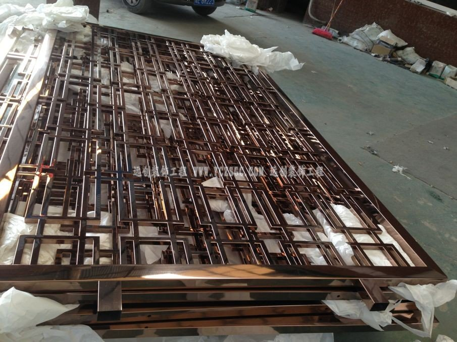 双面无缝不锈钢屏风,满焊不锈钢屏风,精工不锈钢屏风