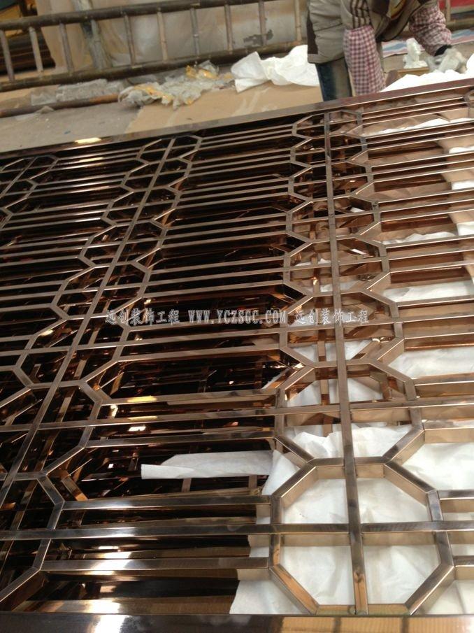 拼角不锈钢屏风,红铜不锈钢屏风,点焊不锈钢屏风