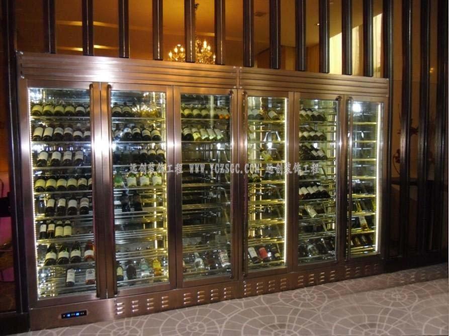 不锈钢红酒柜,玫瑰金不锈钢酒柜,夜总会不锈钢酒柜,304不锈钢酒柜